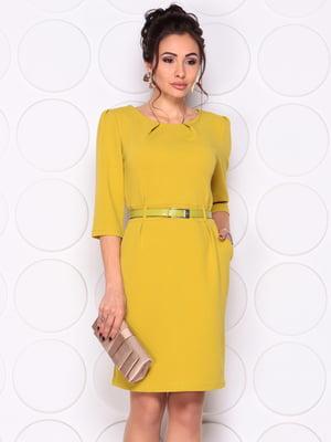 Платье оливкового цвета | 4857652