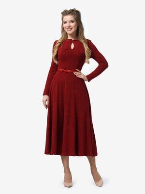 Платье бордовое | 4878407