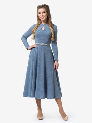 Платье серо-голубое | 4878410