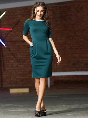 Платье темно-зеленое | 4878596