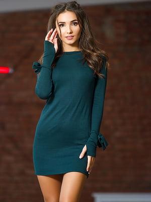 Платье бутылочного цвета | 4878640