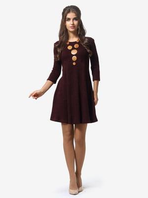 Платье бордовое | 4878667