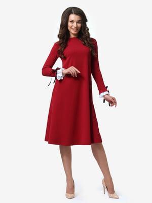 Платье бордовое | 4878687
