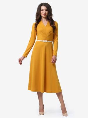 Платье горчичного цвета | 4878696