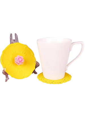 Чашка з силіконовою кришкою і підставкою (350 мл) | 4539989