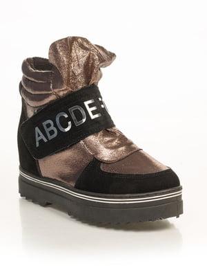 Ботинки черно-бронзового цвета | 4879740