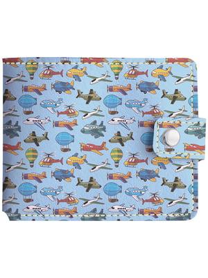 Бумажник голубой с принтом   4881258