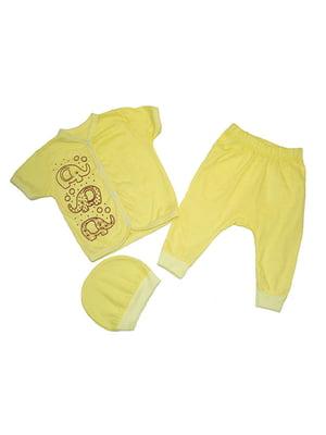 Комплект: сорочечка, штани і шапка   4879862