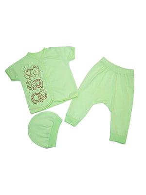 Комплект: распашонка, брюки и шапка   4879863