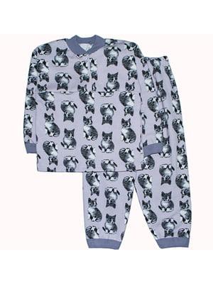 Піжама з начосом: лонгслів і штани | 4879897