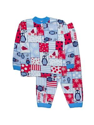 Піжама з начосом: лонгслів і штани | 4879898