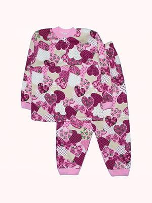 Піжама з начосом: лонгслів і штани | 4879899