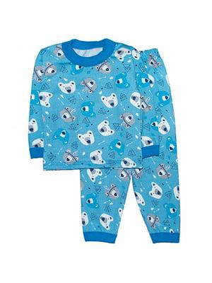 Піжама з начосом: лонгслів і штани | 4879901
