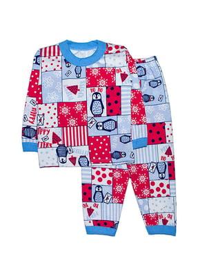 Піжама з начосом: лонгслів і штани   4879903