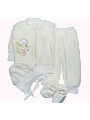 Комплект: кофта, штани, шапка і пінетки   4879915