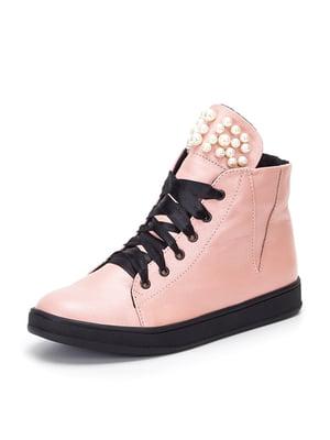 Ботинки цвета пудры | 4885503
