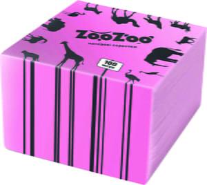 Салфетки (24х23 см), (100 шт.) - розовые | 4885450