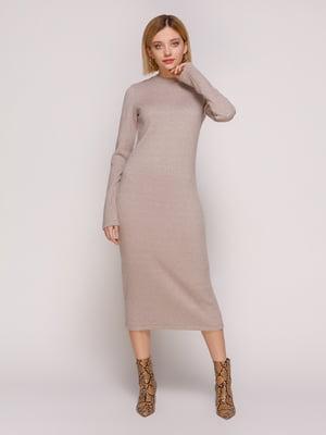 Платье темно-бежевое | 4877455