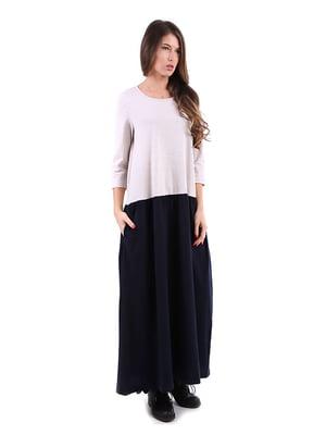 Сукня двоколірна   4885132