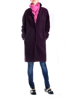 Пальто баклажанного цвета   4885158