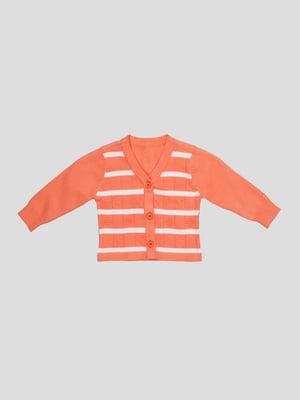 Кофта помаранчева в смужку | 3433561