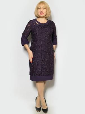 Платье темно-фиолетовое   4887322