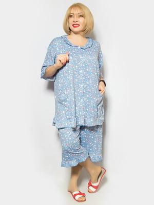 Пижама: туника и капри | 4887324