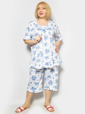 Пижама: туника и капри | 4887325