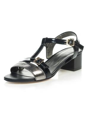Босоножки черно-серебристые | 4228845