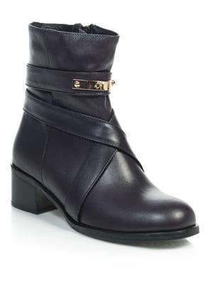 Ботинки темно-баклажанового цвета | 4637997