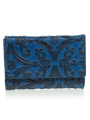 Кошелек синий с рисунком   4884517
