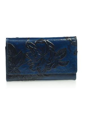 Гаманець синій з малюнком | 4884520