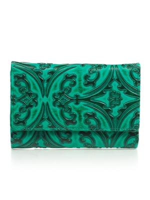 Кошелек зеленый с рисунком   4884527