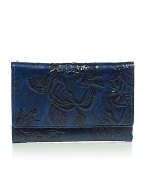 Кошелек синий с рисунком   4884519