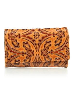 Гаманець коричневий з малюнком | 4884534