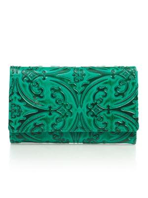 Кошелек зеленый с рисунком   4884528
