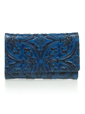 Гаманець синій з малюнком | 4884518