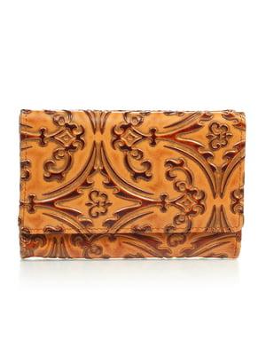Гаманець коричневий з малюнком | 4884533
