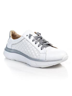 Кросівки біло-сріблясті | 4884868