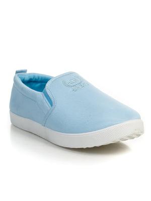 Слипоны голубые | 4793987