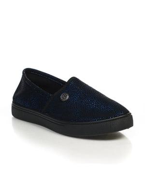 Слипоны черно-синие | 4828861