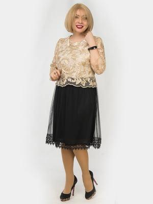 Сукня чорно-золотиста | 4888869
