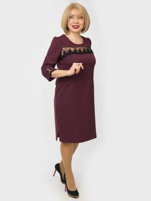 Сукня кольору марсала | 4888880