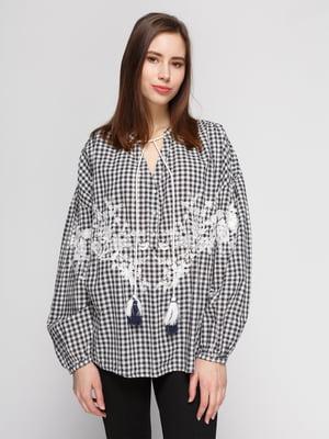 Блуза клетчатая   4876141