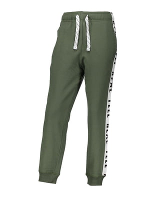 Штани кольору хакі з принтом | 4879538