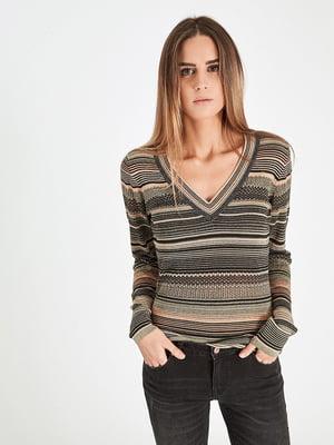 Пуловер різнобарвний | 4889989