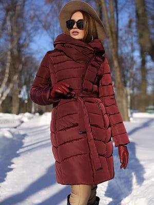 Пальто цвета марсала | 4886834