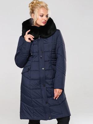 Пальто темно-синее | 4886883