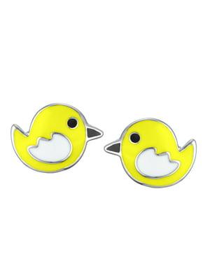 Серьги-пусеты «Птичка» | 4875689