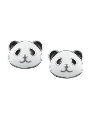 Серьги-пусеты «Панда» | 4875708